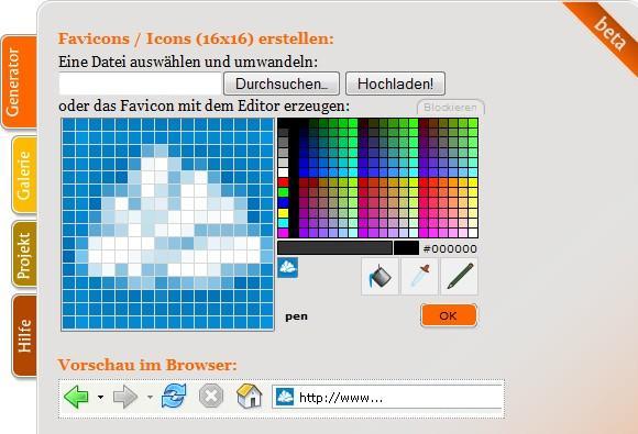 Webware: favicon.ico-Generator online