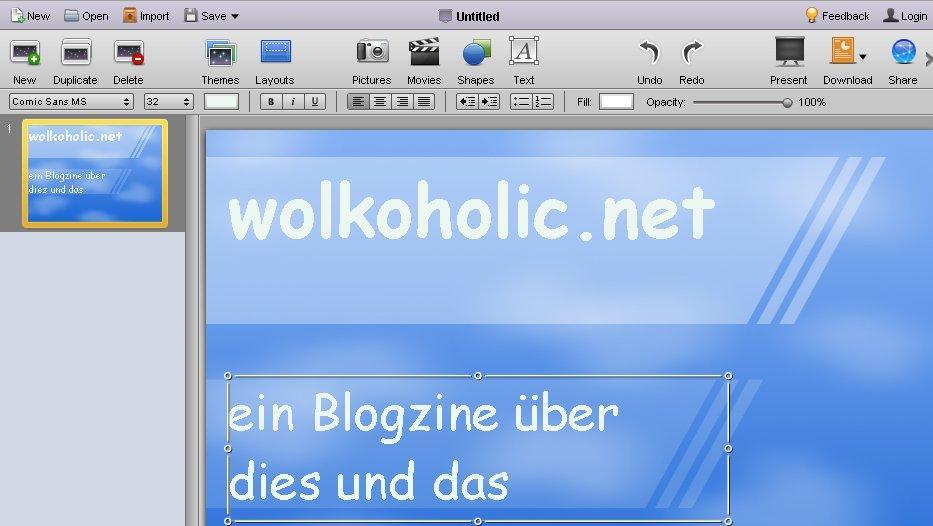 Webware für Online-Präsentationen: 280slides, sliderocket, slide ...