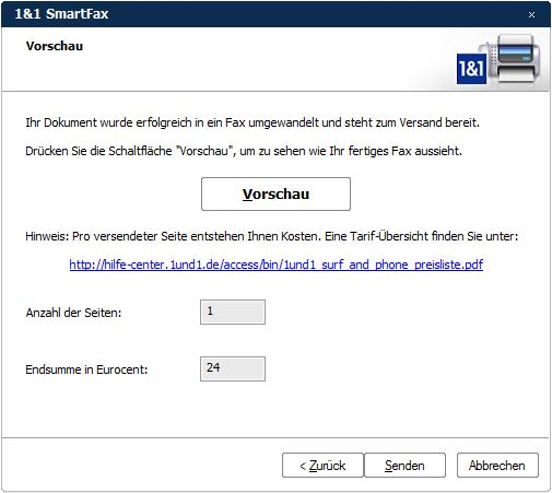 windows xp fax versenden: