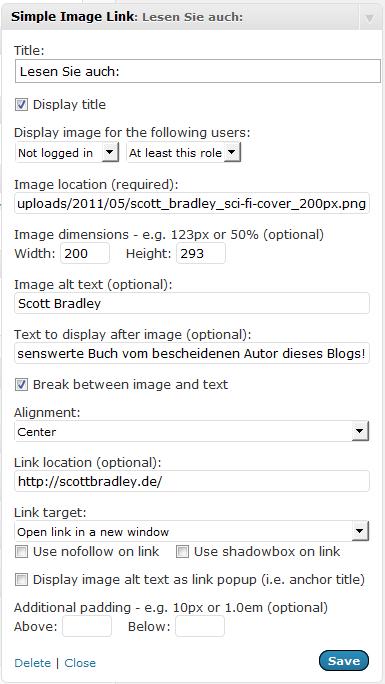 WordPress-Plugin: Simple Image Link