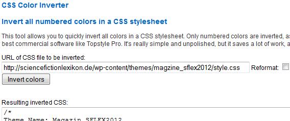 CSS-Farben invertieren: CSS Color Converter