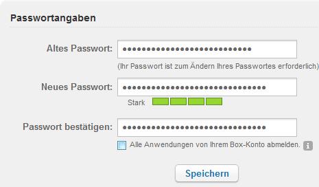 Box: Passwort ändern