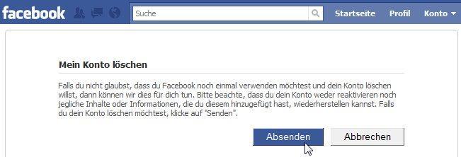 Facebook Account Löschen T Online
